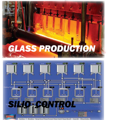 silo control glass production
